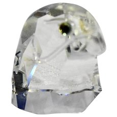 Swarovski Crystal Falcon Eagle Head Figurine 2 IN