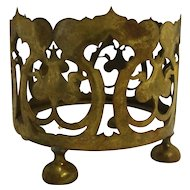 Pairpoint Brass Filigree Vase Holder B1524 Signed 4 IN