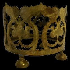 Pairpoint Brass Filigree Vase Holder B1524 Signed 4 IN