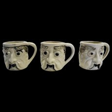 Mini Character Mugs Set of Three Japan Pottery
