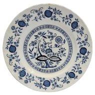 Enoch Wedgwood Blue Heritage Onion Dinner Plate