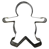 Tin Gingerbread Man Cookie Cutter Vintage