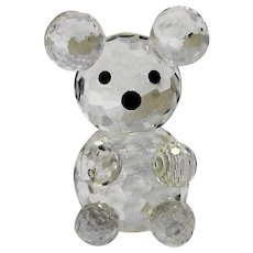 Austrian Crystal Bear Mini Figurine Crystal Forest NIB 1.125 IN