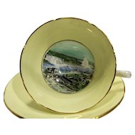 Royal Grafton Historical Niagara Falls Souvenir Bone China Cup Saucer England