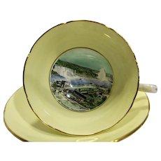Royal Grafton Historical Niagara Falls Souvenir Bone China Cup Saucer England