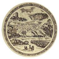 Vernon Kilns Grand Canyon National Park Fred Harvey Arizona Brown Transferware Souvenir Plate