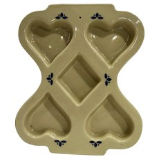 Friendship Pottery Roseville, Ohio Heart Mold
