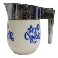 Gemco BLue Cornflower Cream Pitcher