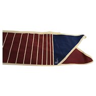 Vera Burgundy Navy Cream Oblong Angled Scarf