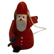 Erzgebirge Santa St Nicholas Christmas Ornament Vintage German Wood Toy