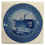 Bing & Grondahl B&G 125th Anniversary Plate – April 1978 New in the Box