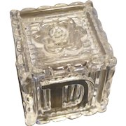 Avon Lead Crystal Alphabet Block Cube 1994 1 3/4 IN