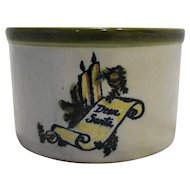 Louisville Stoneware Dear Santa Season's Greeting Crock Made For The Milk House 1978