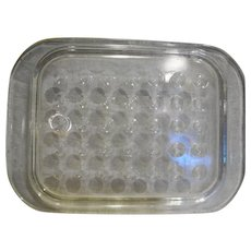 Pyrex Corning Ware Fast Food Lid Only Clear Rectangle Circle Dimples Indents