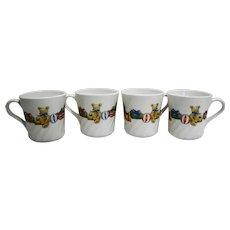 Corelle Corning Holiday Magic Christmas Teddy Bear Presents Mugs Set of 4