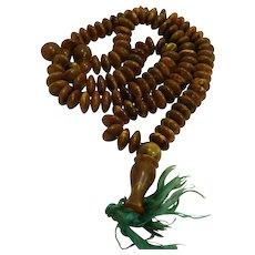 Baltic Amber Tasbih Muslim Prayer Beads Rosary 89G 28 IN