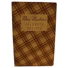 Mary Dunbar Favorite Recipes Booklet 1930s Jewel Tea Premiums
