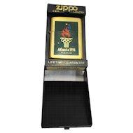 Zippo Lighter Atlanta 1996 Olympics High Polish Brass Enamel
