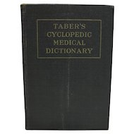 Taber's Cyclopedic Medical Dictionary 1953 6th Edition