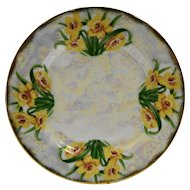 Flower of the Month March Daffodil Ucagco Porcelain Lustre Salad Plate 7 3/4 IN