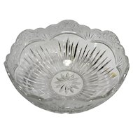 "Oneida Southern Garden Centerpiece Bowl 9.5"" Crystal Glass Cut Flowers Floral"