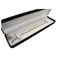 Michael Anthony 10K White Gold Bracelet 4g Oval X Links 7 IN