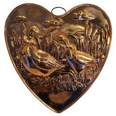 Copper Mold Heart Ducks Geese ODI Made in Korea