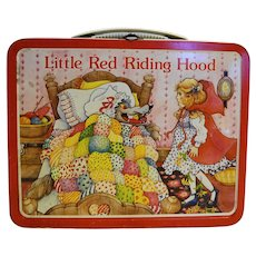 Ohio Art Little Red Riding Hood Metal Lunch Box 1982 No Thermos