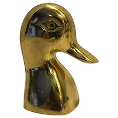 Gatco Solid Brass Duck Head Book End Bust Made in Korea