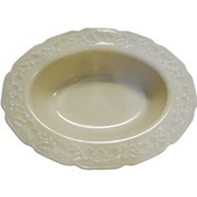 Indiana Custard Ivory Glass Depression Oval Vegetable Bowl