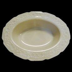 Indiana Custard Ivory Glass Depression Oval Vegetable Bowl