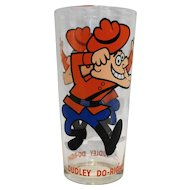 Dudley Do Right Glass Tumbler Ward Productions 1970s