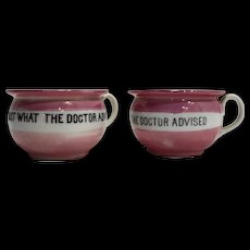 Just What The Doctor Ordered Pink Lustre Small Cups Mugs Germany