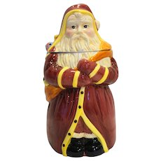 Father Christmas Cookie Jar Block China 1996 12 IN