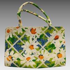 Margaret Smith Gardiner Maine Daisies Floral Purse Lattice