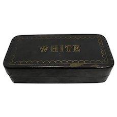 White Sewing Machine Parts Accessories Repair Kit Black Metal Box Vintage