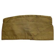 US Army 1950 Garrison Cap Khaki Hat Flat Miller Bros Size 7