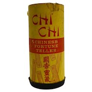 Chi Chi Pacifico Chinese Fortune Teller 1915 Game