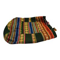 Bright Woven Tribal Ethnic Boho Vintage Bucket Backpack