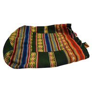 Bright Woven Tribal Ethnic Boho Vintage Bucket Backpack