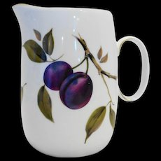 Royal Worcester Evesham 24 OZ Jug Pitcher Plums Oranges