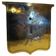 USA Military Eagle Brass Light Switch Plate Cover