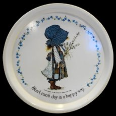 Holly Hobbie Oneida Deluxe Childs Plate Melmac Plastic 1970s