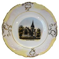 Wheelock Weimar Germany Souvenir Plate M E Church Indian Territory South McAlester C. 1900