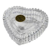 Cristal d'Arques Lead Crystal Romantic Heart Box Small 3 1/2 IN
