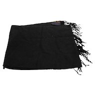 V Fraas Germany Cashmink Solid Black Scarf Muffler Acrylic 52 IN x 11 IN