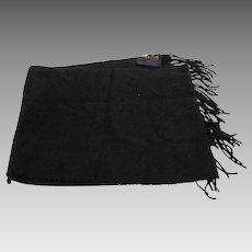 V Fraas Germany Cashmink Solid Black Scarf Muffler Acrylic 52 IN x 11 IN