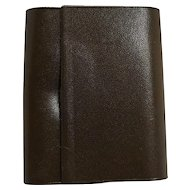 Amity Cowhide Leather Key Case Dark Brown