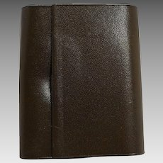 Amity Cowhide Leather Key Case Dark Brown