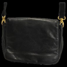 Sereta Black Leather Shoulder Bag Purse